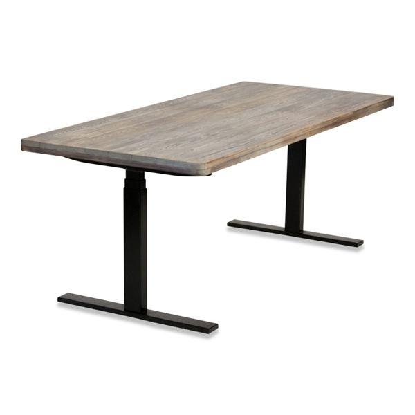 Image of   El hæve sænke bord. Copen Table. Massive træbrædder. Brugt stel.