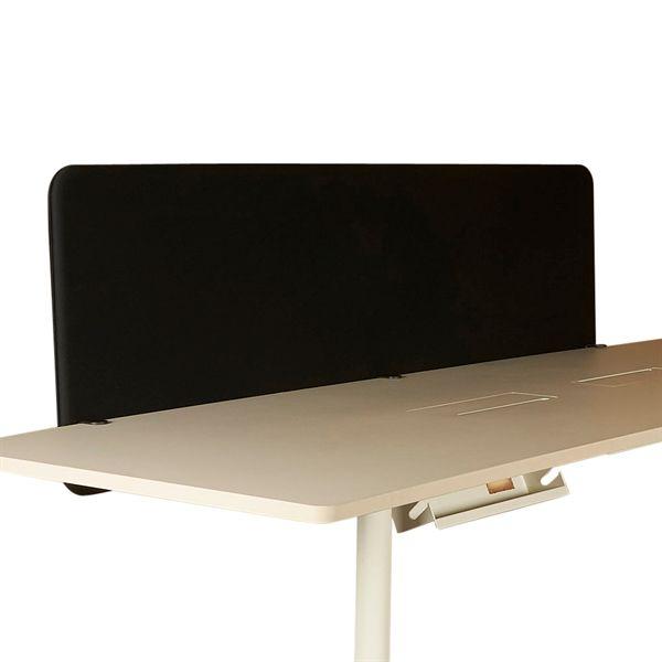 Image of   Abstracta Softline 30 bordskærm, sort stof - 200x65