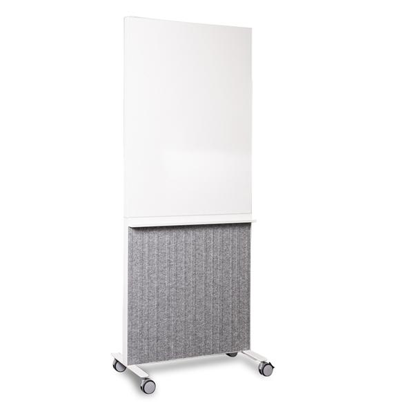 Image of   Abstracta. Whiteboard på hjul med indbygget akustik modul. 80 x 200 cm