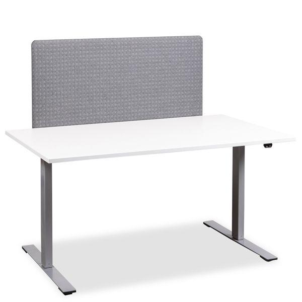 Image of   Bord skærm i gråt polster. 170cm x 65cm