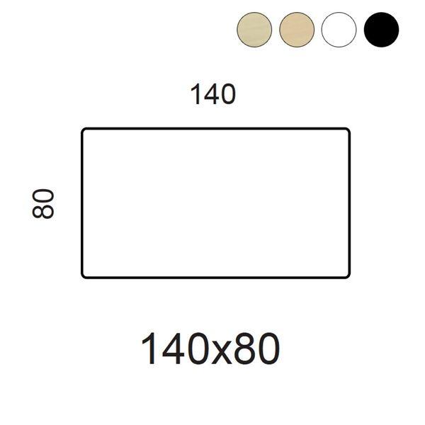 Image of   Bordplade. Fås i ahorn finer, bøg finer, hvid laminat, sort laminat og sort linoleum.