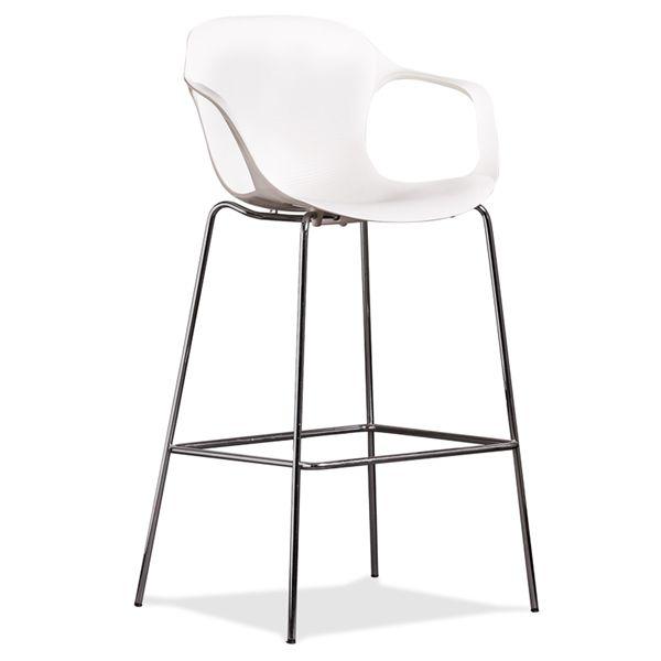 Image of   Fritz Hansen NAP barstol med armlæn. Hvid.