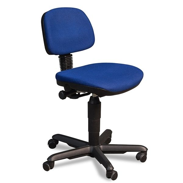 Image of   RBM kontorstol i blå polster