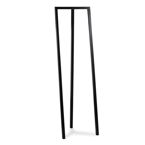 Image of   HAY LOOP. STAND HALL. Sort lakeret metal.