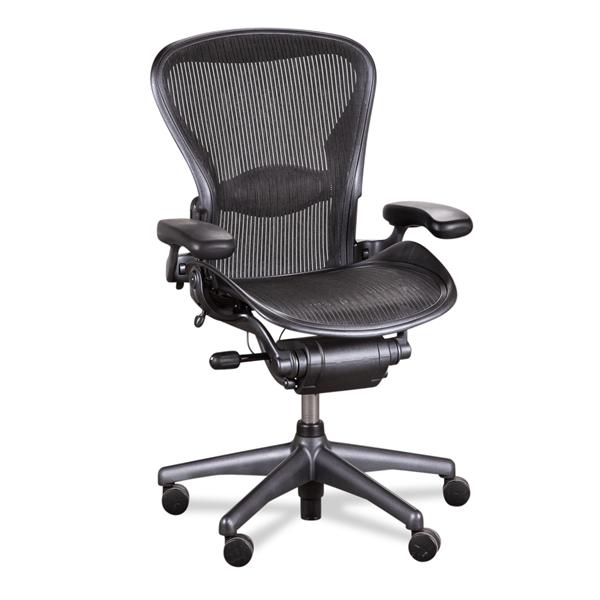 Image of   Herman Miller. Aeron. Graphite. Mesh sæde og ryg. Model B. Brugt.