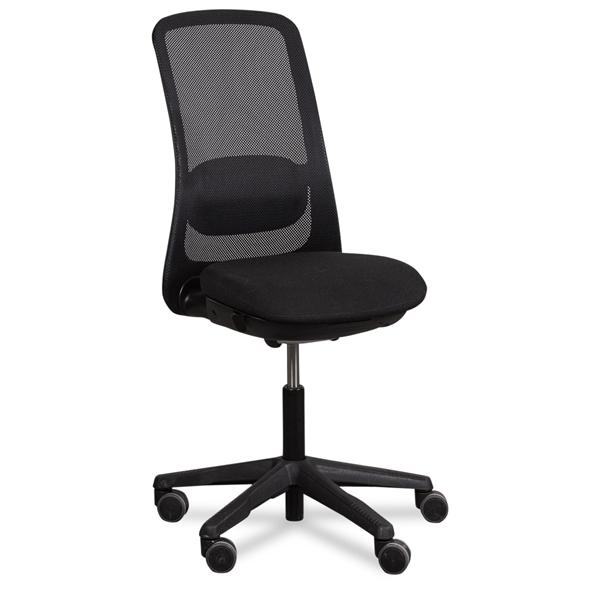 Image of   HÅG kontorstol. Sofi. Sort mesh ryg. Sort polsteret sæde.
