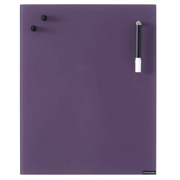 Image of   Chat Board Aubergine Glastavle