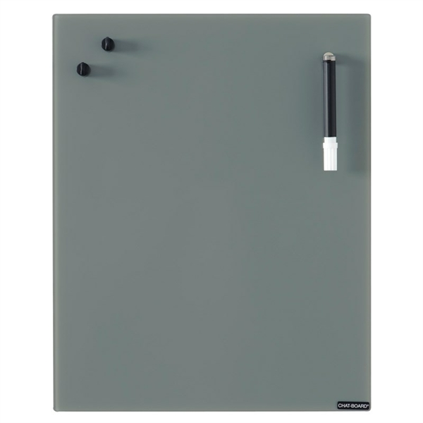 Image of   Chat Board Dark Grey Glastavle