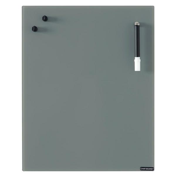 Image of   Chat Board Dark Grey Glastavle