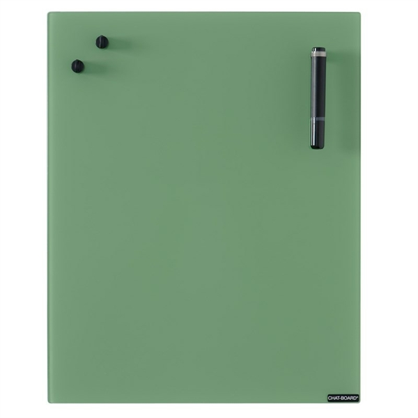 Image of   Chat Board Leaf Green Glastavle