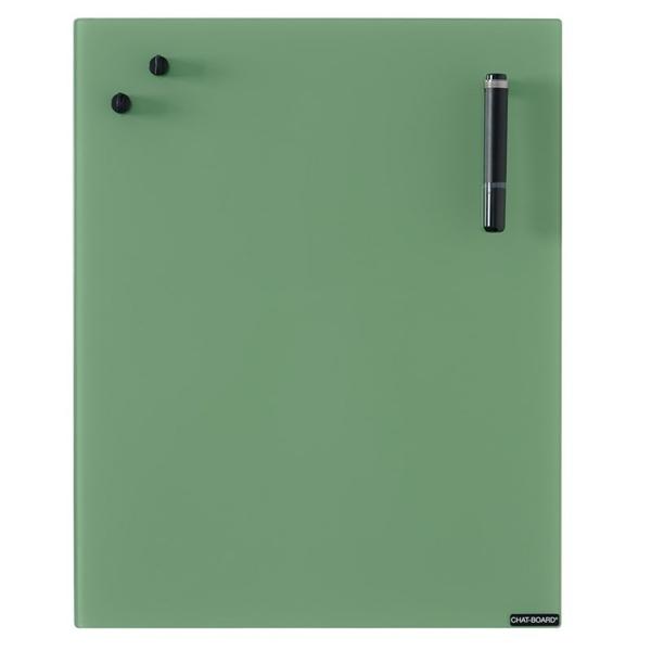 Image of   Chat Board Leaf Green Glastavle