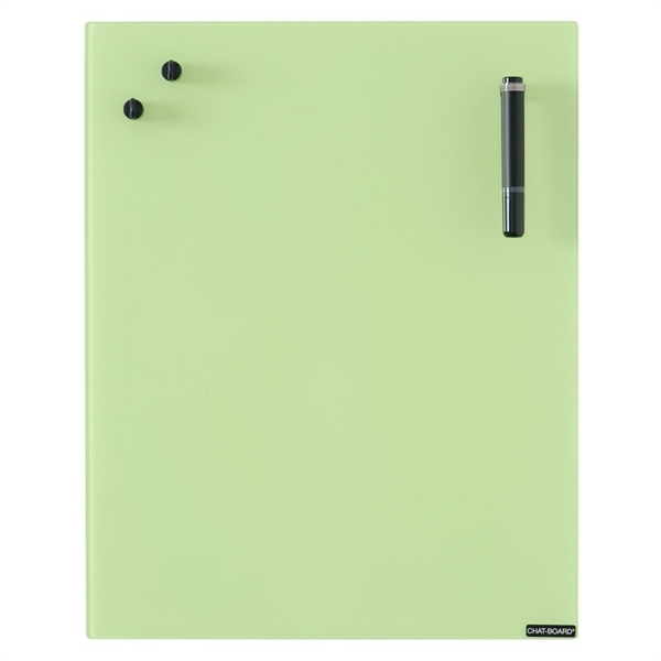 Image of   Chat Board Lime Green Glastavle