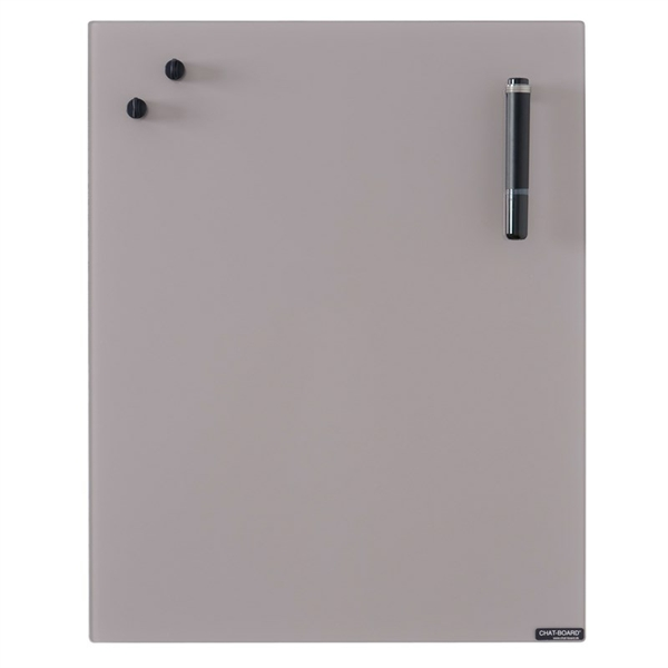 Image of Chat Board Metal Taupe Glastavle