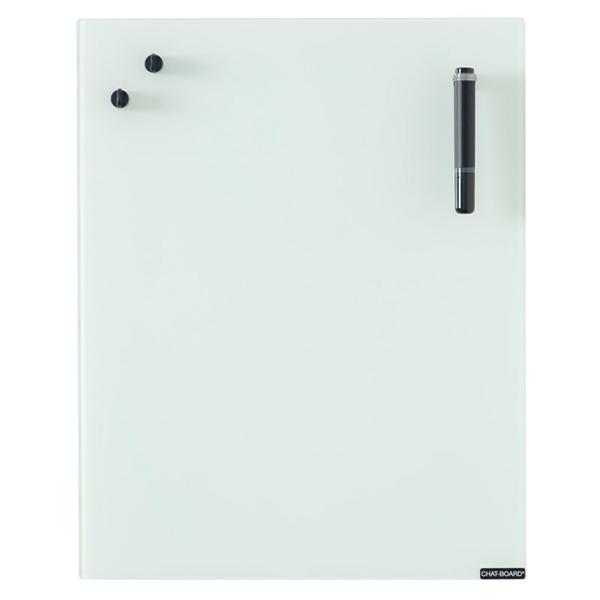 Image of   Chat Board Opal Hvid Glastavle