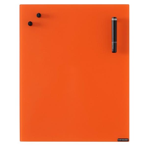 Image of   Chat Board Orange Glastavle