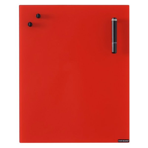 Image of   Chat Board Red Glastavle