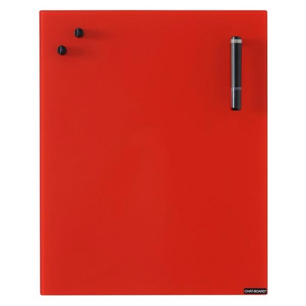 Image of   Chat Board Red Glastavle