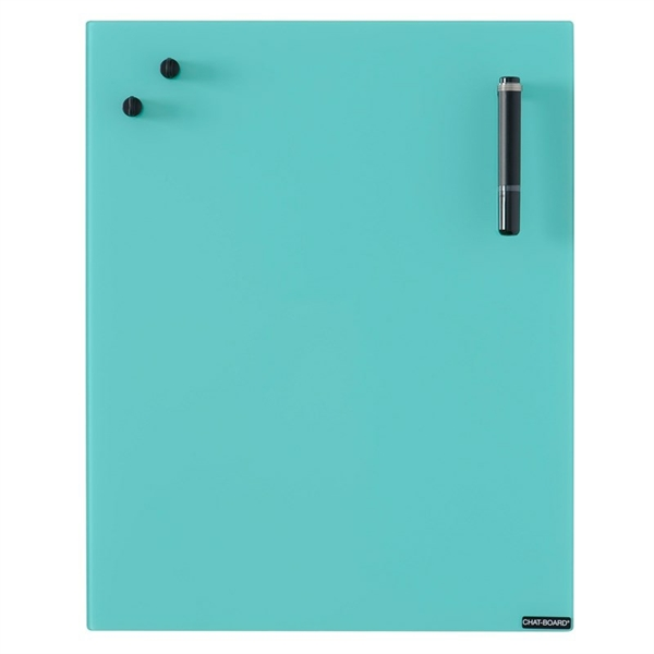 Image of   Chat Board Turquoise Glastavle