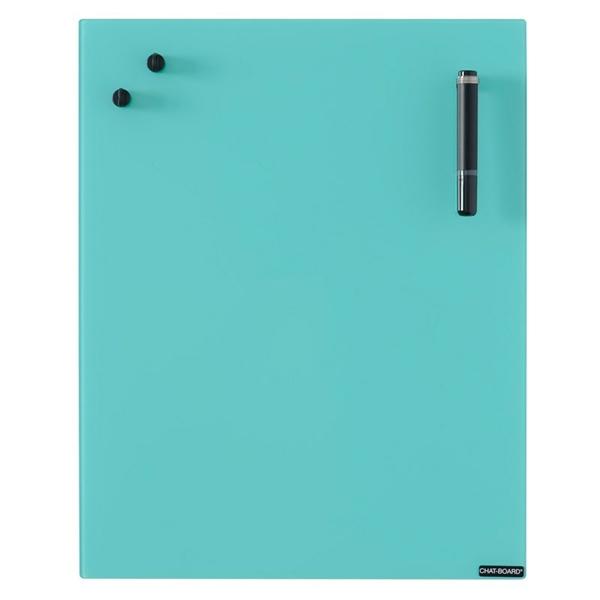 Image of   Chat Board Turquoise Glastavle