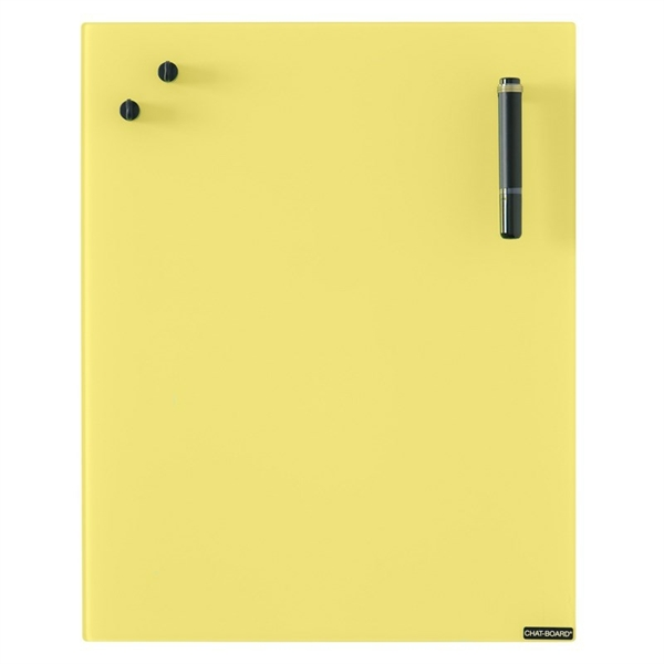 Image of   Chat Board Yellow Glastavle