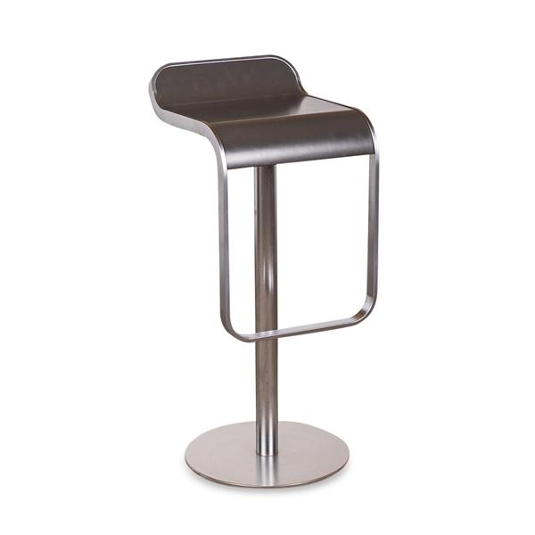 Image of   Lapalma. LEM. Barstol. Alu stel. koksgrå sæde. H: 80 cm