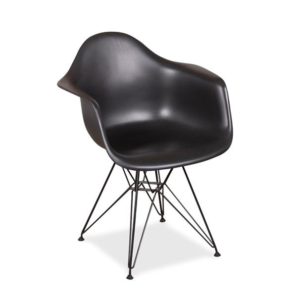 Image of   Eames DAR. Sort skal. Pulverlakeret stel. NY.